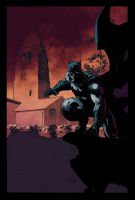 Batman and Tower by jimlee00 by SpicerColor