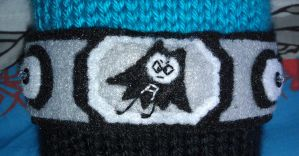 Close up of felt applique Aquabats belt by erin-meow
