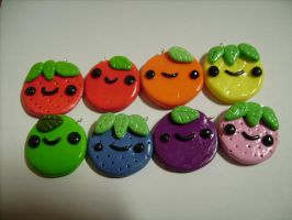 Cute polymer clay fruit charms! by AliceCharms