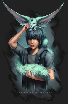 Noctis and Carbuncle by Autlaw