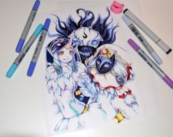 Outfit Swap - Soraka and Kindred by Lighane