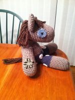 Smarty Pants MLP Plush Doll Crochet by Ookamichan423