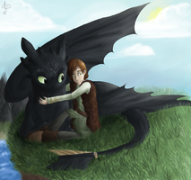 Hiccup and Toothless by PiippaB