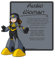 Audio Woman ref sheet by TerraTerraCotta
