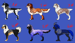 Buyable Adoptables SET 1 (OPEN) by TheWolfsgirl90