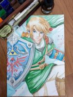 Link - The legend of Zelda by Louie199x