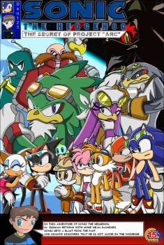 my Sonic cover drawn by hand by Dan123