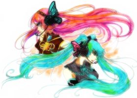 Miku And Luka by Grotesque-89