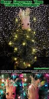GotG: Baby Grootmas Tree Topper/Ornament by witchcraftywolfen