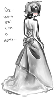 Gil in a dress by Silverrwind