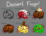 OPEN ADOPTABLES - Dessert Frogs by Kozekito