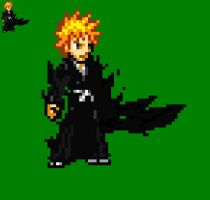 Ichigo's 2nd fullbring sprite by yurestu