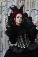 Stock - Gothic lady portrait baroque side view by S-T-A-R-gazer