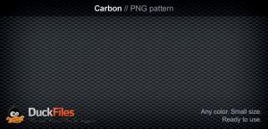 Carbon pattern (PSD and PNG) by DuckFiles