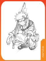 NARUTO in sketch by kevinandy
