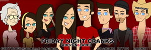 Friday Night Cranks Characters by katidoodlesmuch