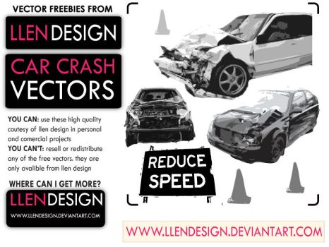 FREE CAR CRASH VECTORS by llendesign