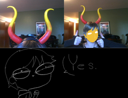 Gamzee horns COMPLETE by wolflover365