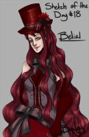 Sketch Of The Day 18: Belial by Bleach592cool