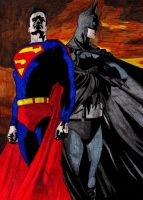 Superman and Batman by gpnightowl96