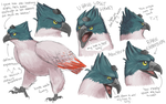 So like what if Waka's hat were actually a bird v2 by AlbaStrix
