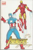 A1 Captain America n Iron Man by MarOmega
