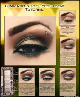 Dramatic Nude Eyeshadow Tutorial by psychoren