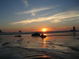 Sunset on the Quillayute Needles 4 by rifka1