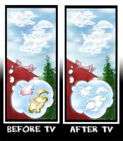Before and after TV by Loisa