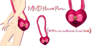 MMD Heart Purse by Tehrainbowllama