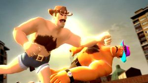 SAXTON HALE KILLS AN ABOMINATION USING HIS IMAGE! by Andrewnuva199