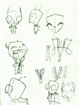 Gir's removable Dog Suit (concept art) by VengefulSpirits