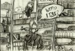Nagato at the Library- Manga Section by Raccoon97