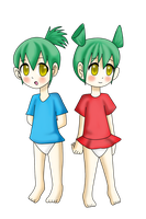 RQ: Kiddie Twins by Pikaripeaches