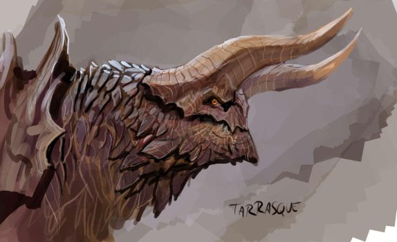 A Tarrasque doodle by nebezial