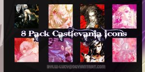 8x Castlevania Icons by LW-Lucy