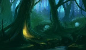 Fantasy Forest by Cluly