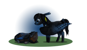 I'm watching over you - Chibi Commission by Saerl