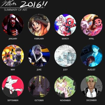 2016 Art Summary + thoughts on the year by JerkArts