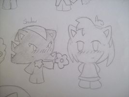 Shadow and Amy chibi by McMuffinNinjaFluffer