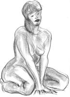 Black stone nude by GGdraw