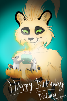 B - Day Gift for Felinar by MajorFelis