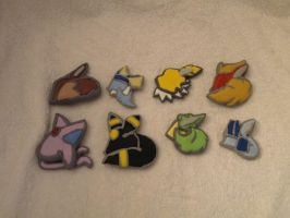 Eevee evolution Badges by DoublerTrouble