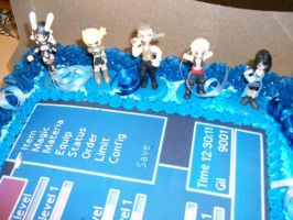 Final Fantasy Birthday Cake 3 by ChaoticBlossoms