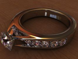 engagement ring by kassinopious