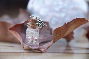 Pink Fairy Bottle Necklace Insp by Legend of Zelda by IvrinielsArtNCosplay