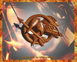Hunger Games pin by ichigocreations