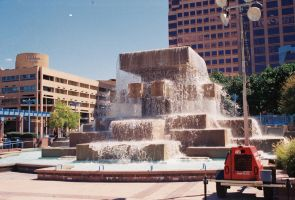 The Fountain at Civic Plaza by Texas1964