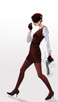 Significantly more girly spy by JesusPie