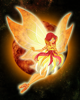 Phoenia - nymph of Fire by CharmedWings